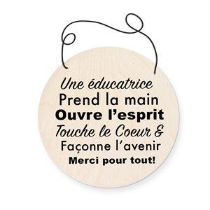 PLAQUETTE RONDE EDUCATRICE