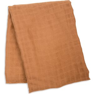 SWADDLE BLANKET BAMBOO COTTON TAN