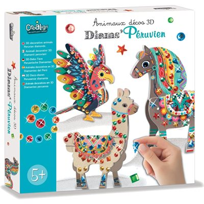 ANIMAUX DECO 3D, DIAMS PERUVIEN